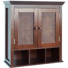 windham wall cabinet with two glass doors by essential home