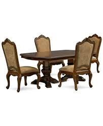 Pedestal Dining Table Lakewood 5 Piece Dining Room Furniture Set Double Pedestal Dining