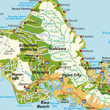 map of waikiki island map oahu hi hawaii usa maps and directions at map