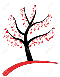 illustration of music note tree royalty free cliparts vectors