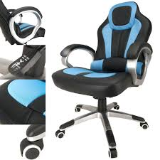 desk chair gaming desk and chair deluxe padded sports racing