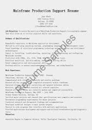 Application Support Resume Examples by Mainframe Production Support Resume Sample Resume Samples