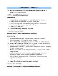 Chemistry Resume Example by Download Chemical Engineer Resume Haadyaooverbayresort Com