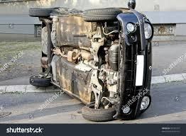 small black car crashed roll over stock photo 35141107 shutterstock