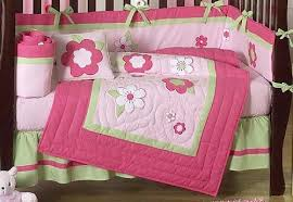 Sweet Jojo Designs Crib Bedding Pink And Green Flower Collection Baby Floral Garden Bedding