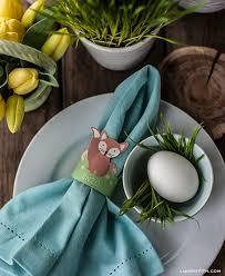 easter napkin rings woodland friends easter egg holders or napkin rings