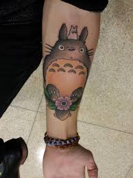 treated myself to a tattoo of totoro one of my favorite ghibli
