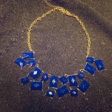blue gem necklace images Avon jewelry royal blue gem stone statement necklace poshmark jpg