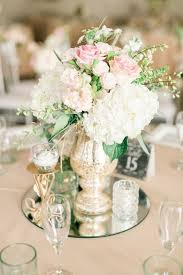 wedding centerpiece picture of white and pink flower mirror wedding centerpiece with