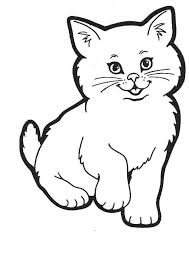 coloring page of a kitty cat pictures to color coloring page cat printable coloring image