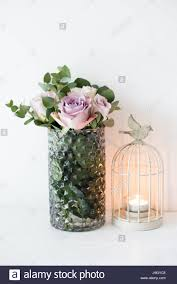 Mauve Color by Pastel Purple Mauve Color Fresh Summer Roses In Vase With White