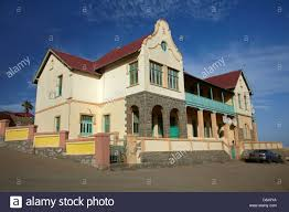 german colonial architecture luderitz namibia africa stock