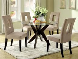 glass top dining table set 4 chairs adorable round glass top dining table set lovable kitchen for 4