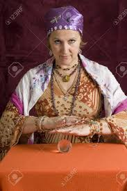 gypsy fortune teller halloween costume cheesy fortune teller stock photo picture and royalty free image