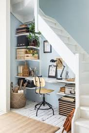 under stairs office white space utilization small workspace