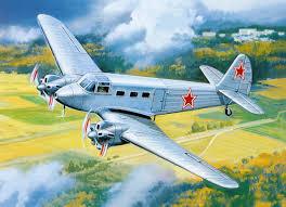 airplane yak 8 flight painting art aviation