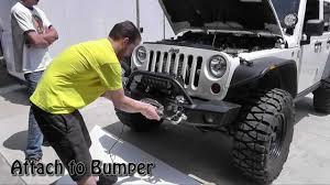 jeep rubicon winch bumper simple winch install