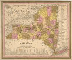 Map Of The Erie Canal Antique Maps Of New York