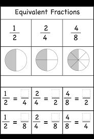 free equivalent fractions worksheets worksheets