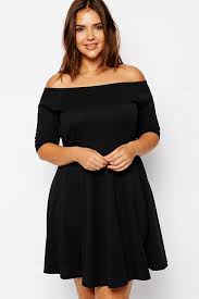 plus size women clothing 2016 summer style off shoulder black