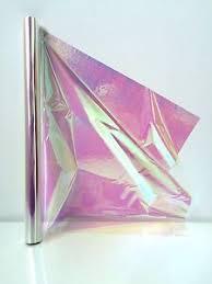 cellophane iridescent 10m roll 50cm wide rainbow effect gift