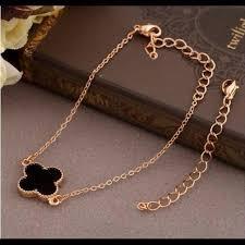 bracelet leaf images Jasmine gold four leaf clover bracelet jpg