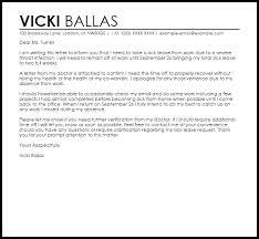 sick leave letter leave letters livecareer