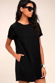 black shift dress shift dress causal dress black dress