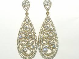 dramatic earrings kelsey dramatic gold vintage drop earrings sale