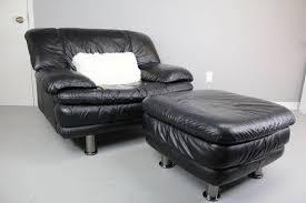 black leather square ottoman furniture large black leather chair and oversized square ottoman