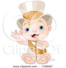 new year sash clipart happy baby standing waving and wearing a top hat and new
