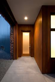 wood wall covering ideas hallway house design with laminate wood wall covering panels and