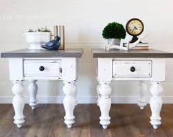 White Painted Coffee Table by White Side Table Etsy