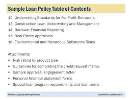 cdfi loan policies and procedures portfolio management series