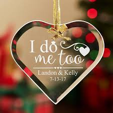 personal creations personalized i do me glass ornament