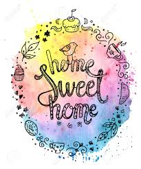 sweet house typography clipart sweet house pencil and in color typography