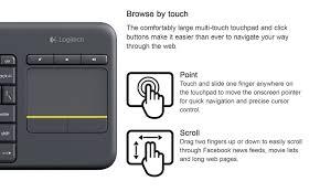 amazon com logitech k400 920 007119 plus wireless touch keyboard
