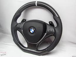 Bmw X5 Custom - bmw e71 x6 x5 white ring m stitch thicker napa flat bottom carbon