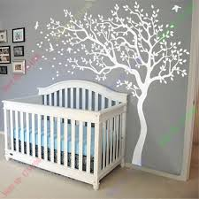 Wall Tree Decals For Nursery White Tree Wall Decal Nursery Tree And Birds Wall Baby