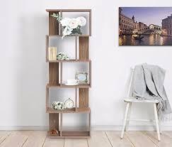 bibliotheque chambre enfant mobili bibliotheque meuble de rangement 5etagères bois brun