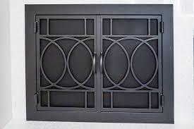 fireplace door glass replacement modern fireplace doors california customs hand crafted custom