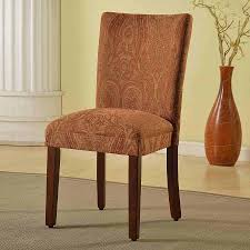 classic parsons red gold damask dining chair homepop