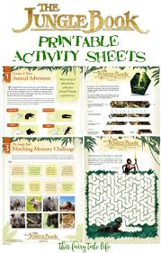 Printable Activity Book The Jungle Book Printable Activities This Fairy Tale Life