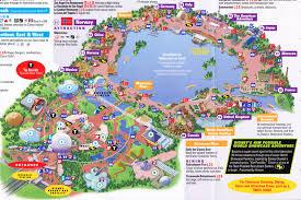 epcot at walt disney world 2011 park map