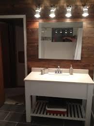 bath vanity barn wood wall ikea lights white modern rustic bath vanity barn wood wall ikea lights white modern rustic grey tile