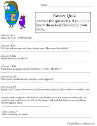 church house collection blog hard easter quiz on resurrection of