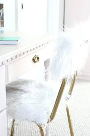 faux fur desk chair white fur vanity chair fur desk chair one room challenge week 5 less