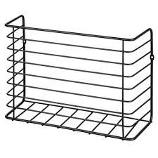 wall mounted kitchen storage cupboards mdesign metal wall cabinet door mount kitchen storage basket black