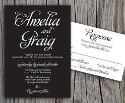 black wedding invitations black and white wedding invitations diy black and white