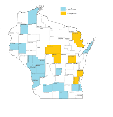 Map Of Door County Wi News Spotted Wing Drosophila